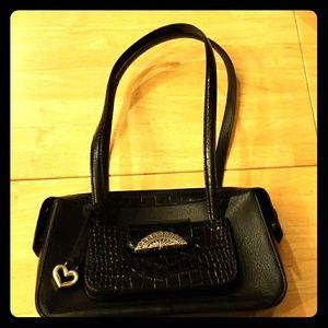 Brighton Black Leather Handbag